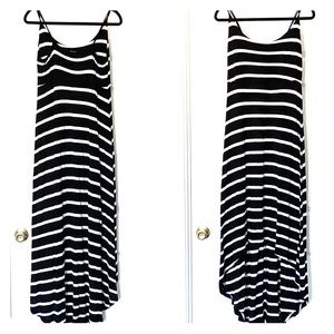 Forever 21 Plus Sz Black and White High Low Dress